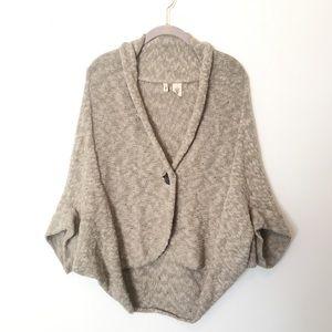 Anthropologie Moth Kimono Tan Sweater Cardigan S/M